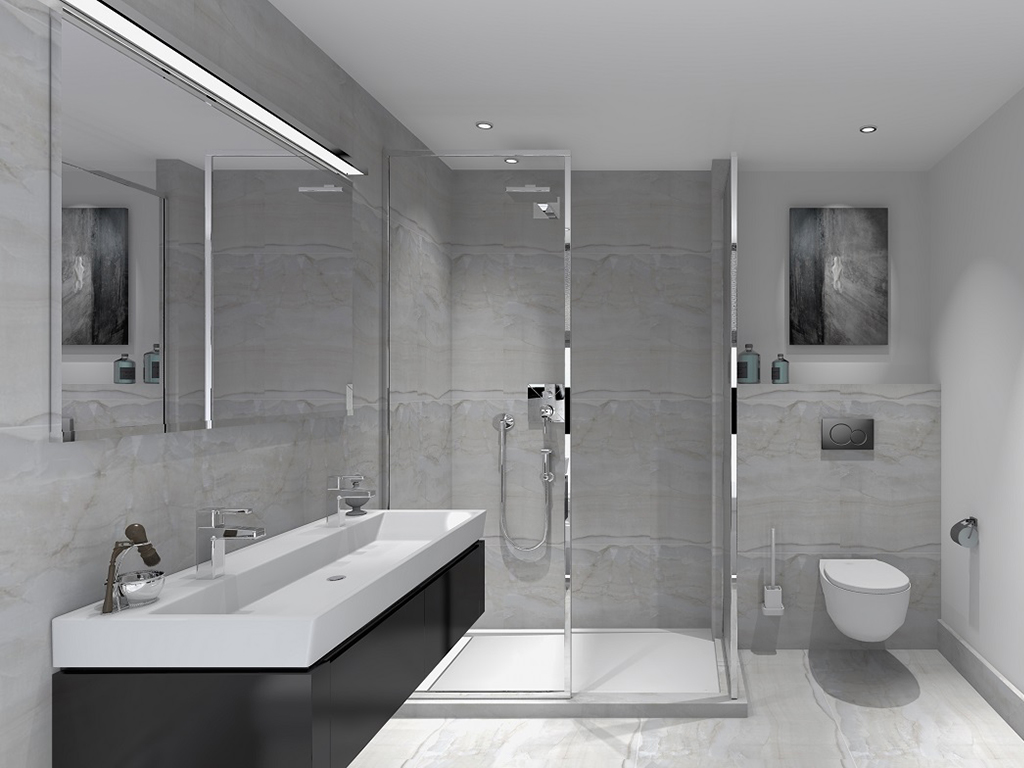 Conception 3D bathroom - Glamhouse