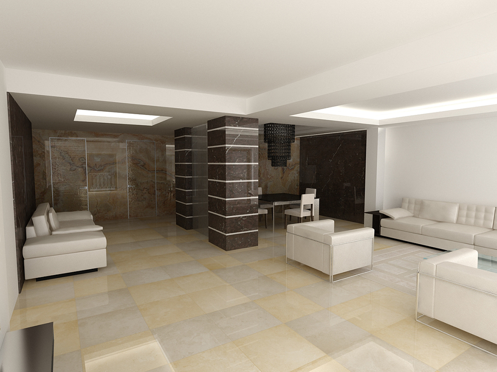 Conception 3D living room - Glamhouse