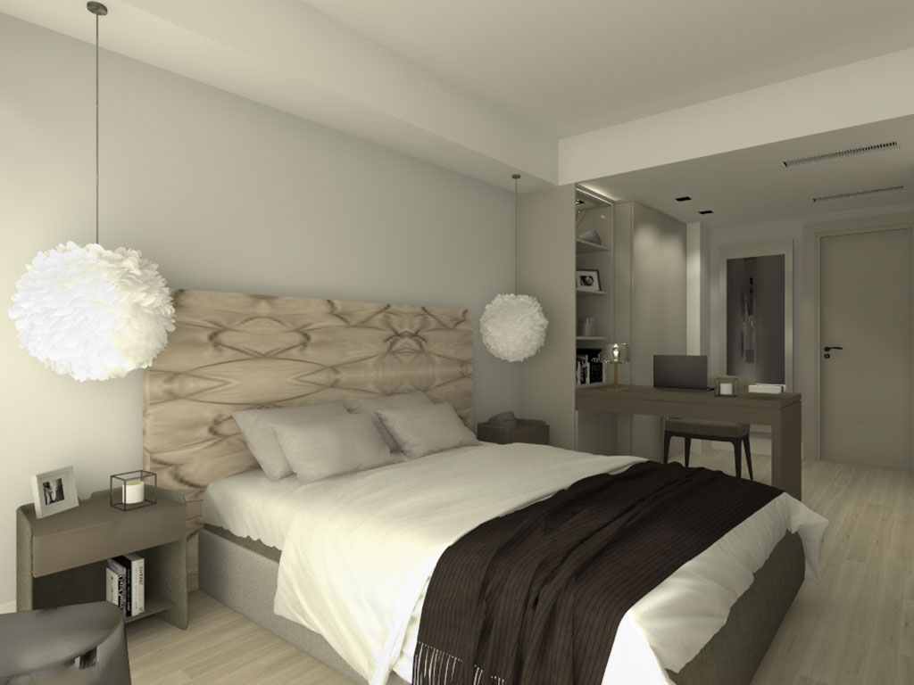 Conception 3D bedroom - Glamhouse